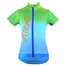 Buy Pere Children's Short Sleeve Cycle Top, Green/Blue Online at johnlewis.com
