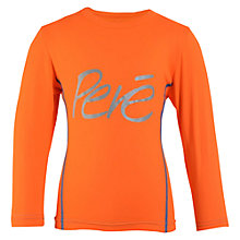 Buy Pere Children's Long Sleeve Cycle Top, Orange Online at johnlewis.com