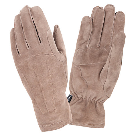 Buy Tucano Urbano Soft Suede Gloves, Cream Online at johnlewis.com
