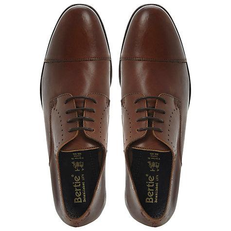 Buy Bertie Avalanche Gibson Leather Shoes, Black Online at johnlewis.com