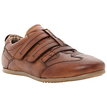 Buy Dune Brinkman Double Strap Leather Trainers, Tan Online at johnlewis.com