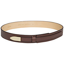 Buy Jaeger Icon Buckle Waist Belt, Mocha Online at johnlewis.com