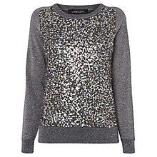 Buy Jaeger Sequin and Lurex Jumper, Grey Online at johnlewis.com