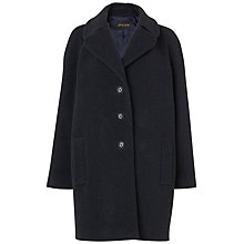 Buy Jaeger Open Collar Cocoon Coat, Charcaol Online at johnlewis.com