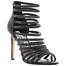 Buy Dune Heartshine Heeled Sandals, Black Online at johnlewis.com
