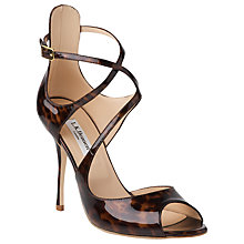 Buy L.K. Bennett Serena Heeled Sandals, Patent Tortoiseshell Online at johnlewis.com