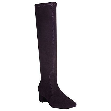 Buy L.K. Bennett Portman Knee Boots, Purple Online at johnlewis.com