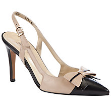 Buy Peter Kaiser Damanda Slingback Court Shoes, Cream Online at johnlewis.com