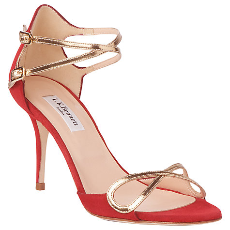 Buy L.K. Bennett Elodie Sandals, Red Online at johnlewis.com