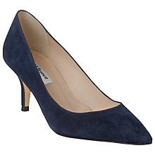 Buy L.K. Bennett Florisa Stiletto Heeled Court Shoes, Navy Suede Online at johnlewis.com