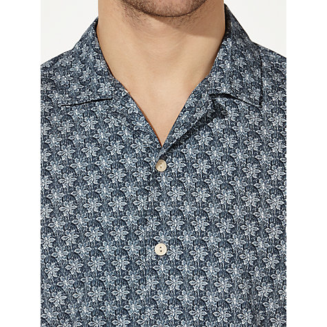 Buy JOHN LEWIS & Co. Archive Small Leaf Print Shirt, Blue Online at johnlewis.com