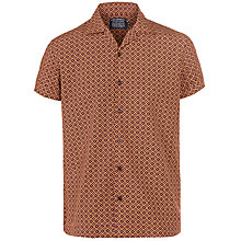 Buy JOHN LEWIS & Co. 150 Years Geo Cross Print Short Sleeve Shirt Online at johnlewis.com