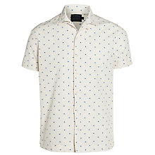 Buy JOHN LEWIS & Co. Dash Print Bowling Shirt, White Online at johnlewis.com