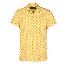 Buy JOHN LEWIS & Co. Morris Archive Print Short Sleeve Cotton Shirt, Gold Online at johnlewis.com