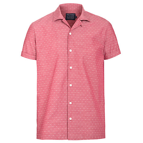 Buy JOHN LEWIS & Co. Single Dot Print Bowling Shirt, Red Online at johnlewis.com