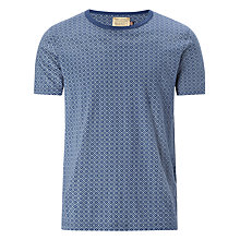 Buy JOHN LEWIS & Co. Printed Geo Cross Crew Neck T-Shirt, Navy Online at johnlewis.com