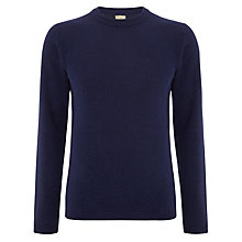Buy JOHN LEWIS & Co. Moss Stitch Yoke Wool Cashmere Crew Neck Jumper Online at johnlewis.com