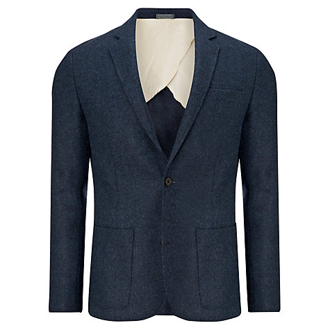 Buy JOHN LEWIS & Co. Abraham Moon Deconstructed 2-Button Blazer, Indigo Online at johnlewis.com
