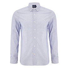Buy JOHN LEWIS & Co. Self Stripe Shirt, Navy Online at johnlewis.com