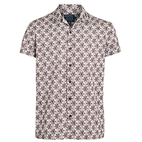 Buy JOHN LEWIS & Co. Archive Small Leaf Print Shirt, Oxblood Red Online at johnlewis.com