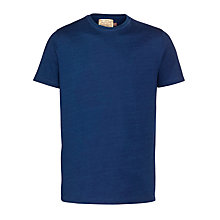 Buy JOHN LEWIS & Co. Crew Short Sleeve Cotton T-Shirt, Indigo Online at johnlewis.com