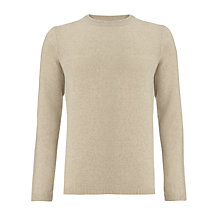 Buy JOHN LEWIS & Co. Moss Stitch Yoke Merino Cashmere Crew Neck Jumper Online at johnlewis.com