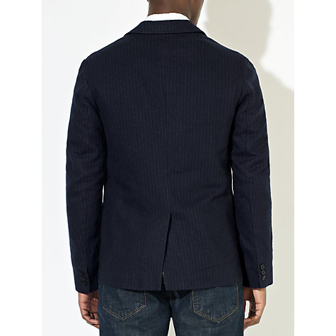 Buy JOHN LEWIS & Co. Chalk Stripe Blazer, Navy Online at johnlewis.com