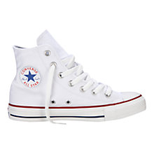 Buy Converse Chuck Taylor All Star Canvas HI-Top Trainers, White Online at johnlewis.com