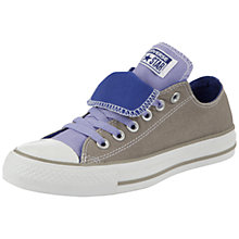 Buy Converse Chuck Taylor All Star Double Tongue Low Trainers, Silver / Lavender Online at johnlewis.com