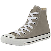 Buy Converse Chuck Taylor All Star Canvas Hi-Top Trainers, Old Silver Online at johnlewis.com
