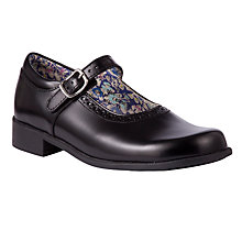 Buy Start-rite Daisychain Print Lined Leather Shoes, Black Online at johnlewis.com