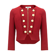 Buy Somerset by Alice Temperley Girls' Military Jacket, Red Online at johnlewis.com