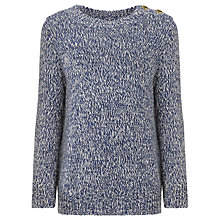 Buy Somerset by Alice Temperley Girls' Textured Knit Jumper, Blue Online at johnlewis.com