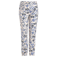 Buy Somerset by Alice Temperley Girls' Meadow Print Trousers, Cream/Blue Online at johnlewis.com