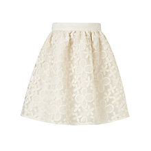 Buy Somerset by Alice Temperley Girls' Somerset Embroidered Skirt, Cream Online at johnlewis.com