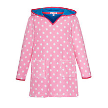 Buy John Lewis Girl Rabbit Towelling Dress with Hood, Pink Online at johnlewis.com