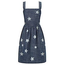 Buy Loved & Found Girls' Star Print Chambray Dress, Navy Online at johnlewis.com