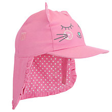 Buy John Lewis Girl Novelty Cat Keppi Hat, Pink Online at johnlewis.com