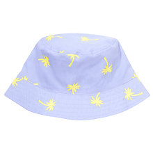 Buy John Lewis Girl Reversible Palm Tree Sun Hat, Lilac/Turquoise Online at johnlewis.com