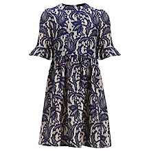 Buy Somerset by Alice Temperley Girls' Lace Dress, Navy Online at johnlewis.com