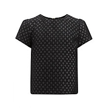 Buy Somerset by Alice Temperley Girls' Jacquard Top, Deep Navy Online at johnlewis.com