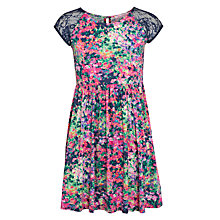 Buy John Lewis Girl Crochet Panel Jersey Dress, Multi Online at johnlewis.com