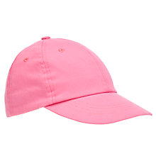 Buy John Lewis Girl Ditsy Cap, Pink Online at johnlewis.com
