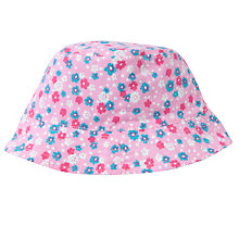 Buy John Lewis Girl Reversible Ditsy Bucket Hat, Pink/Blue Online at johnlewis.com