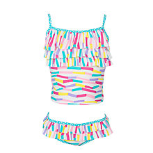 Buy John Lewis Girl Zig Zag Tankini, Multi Online at johnlewis.com