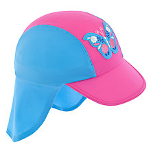 Buy John Lewis Girl Keppi Butterfly Sun Hat, Pink/Blue Online at johnlewis.com