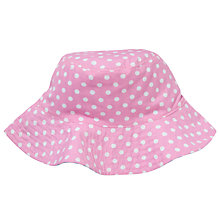 Buy John Lewis Girl Reversible Dot & Stripe Sun Hat, Pink/Blue Online at johnlewis.com