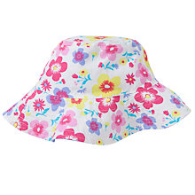 Buy John Lewis Girl Floral Sun Hat, White/Multi Online at johnlewis.com