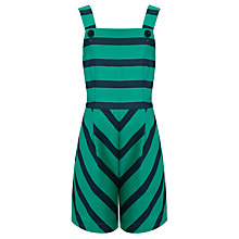 Buy Loved & Found Girls' Stripe Playsuit, Green Online at johnlewis.com