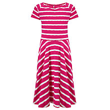 Buy Loved & Found Girls' Bright Stripe Skater Dress, Magenta Online at johnlewis.com